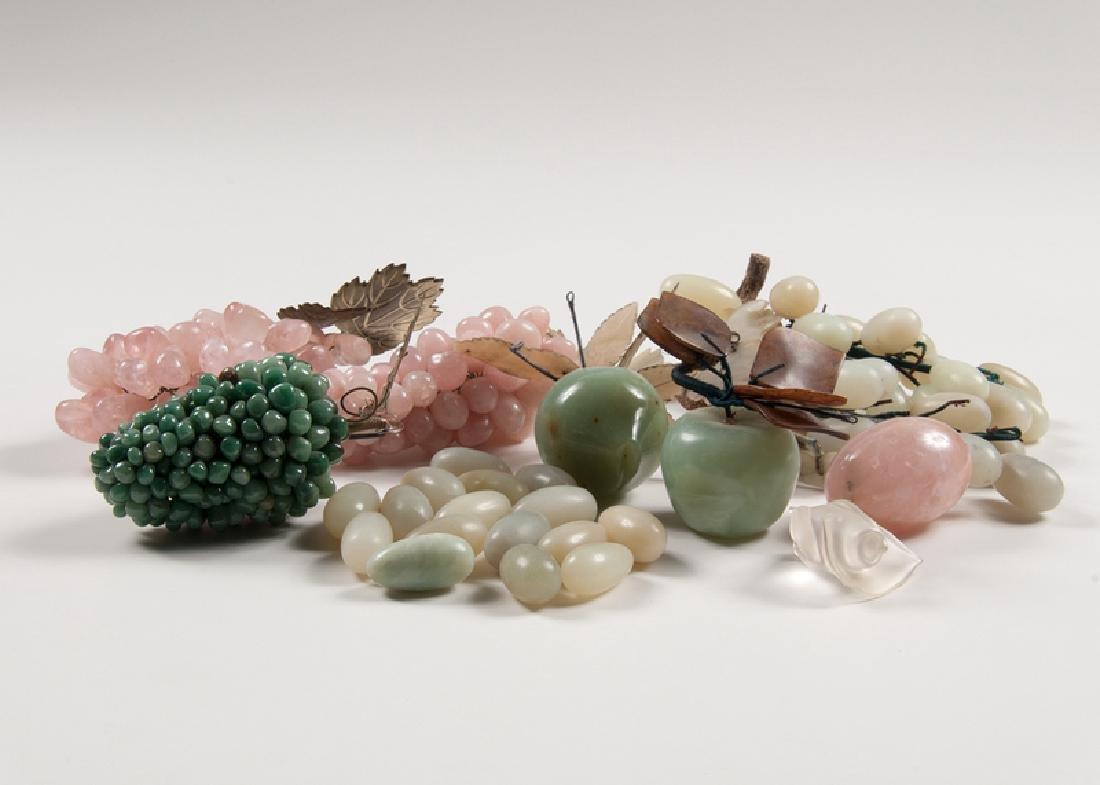 Decorative Carved Stone Fruit, Plus