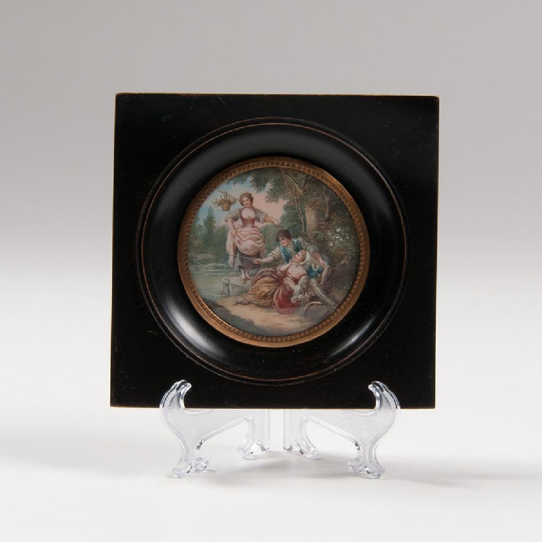 Miniature Painting on Ivory after François Boucher