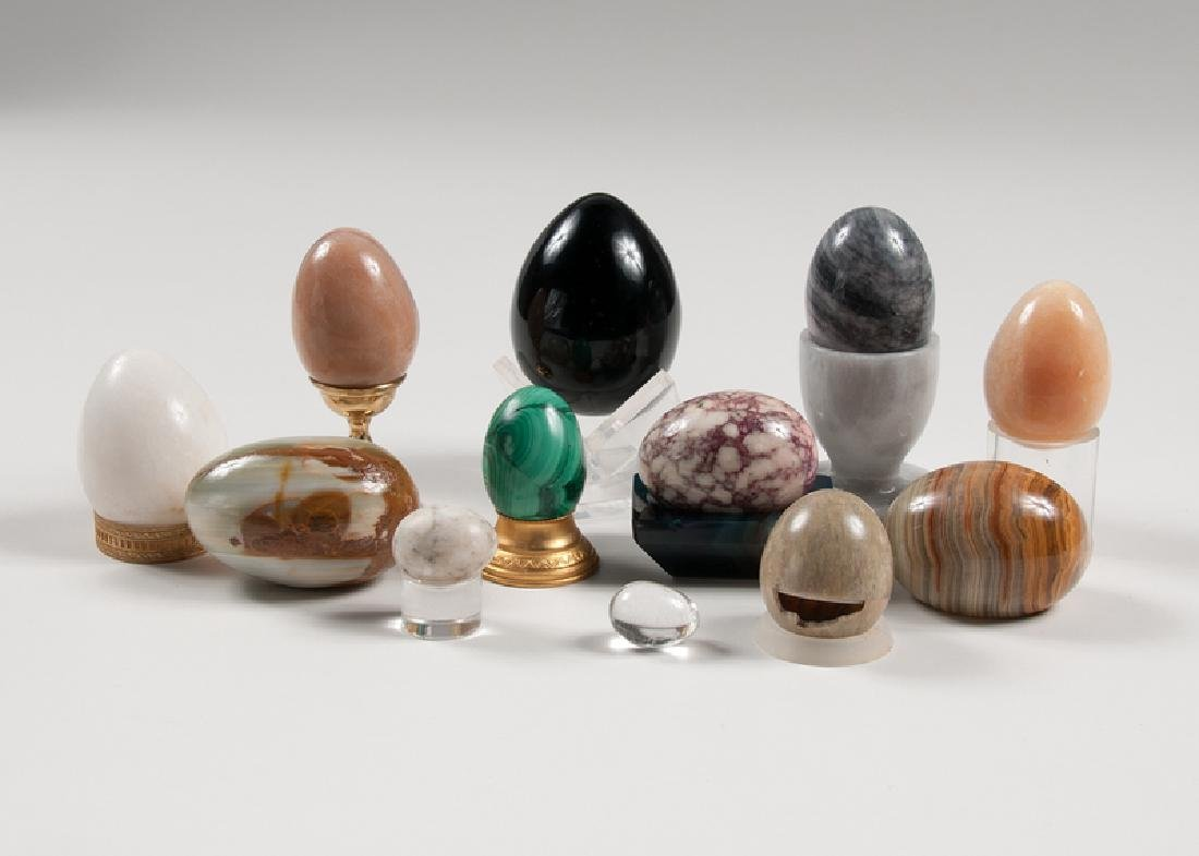 Stone and Glass Eggs