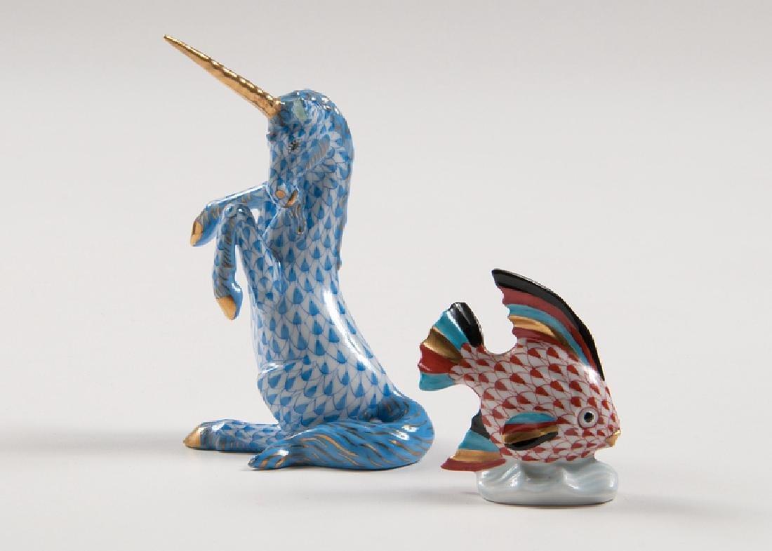 Herend Fishnet Unicorn and Fish