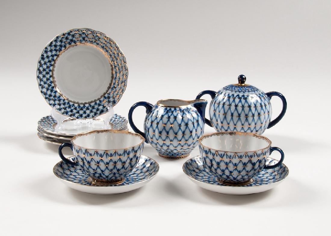 Russian Porcelain Breakfast Set for Two