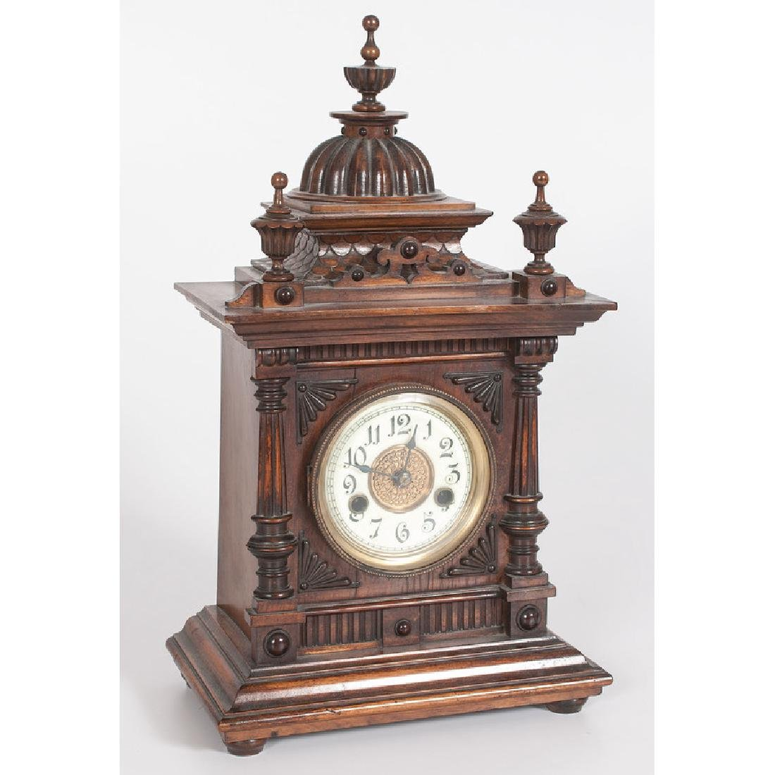 German Carved Mantel Clock