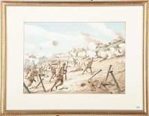 P Lemplay World War I Watercolor
