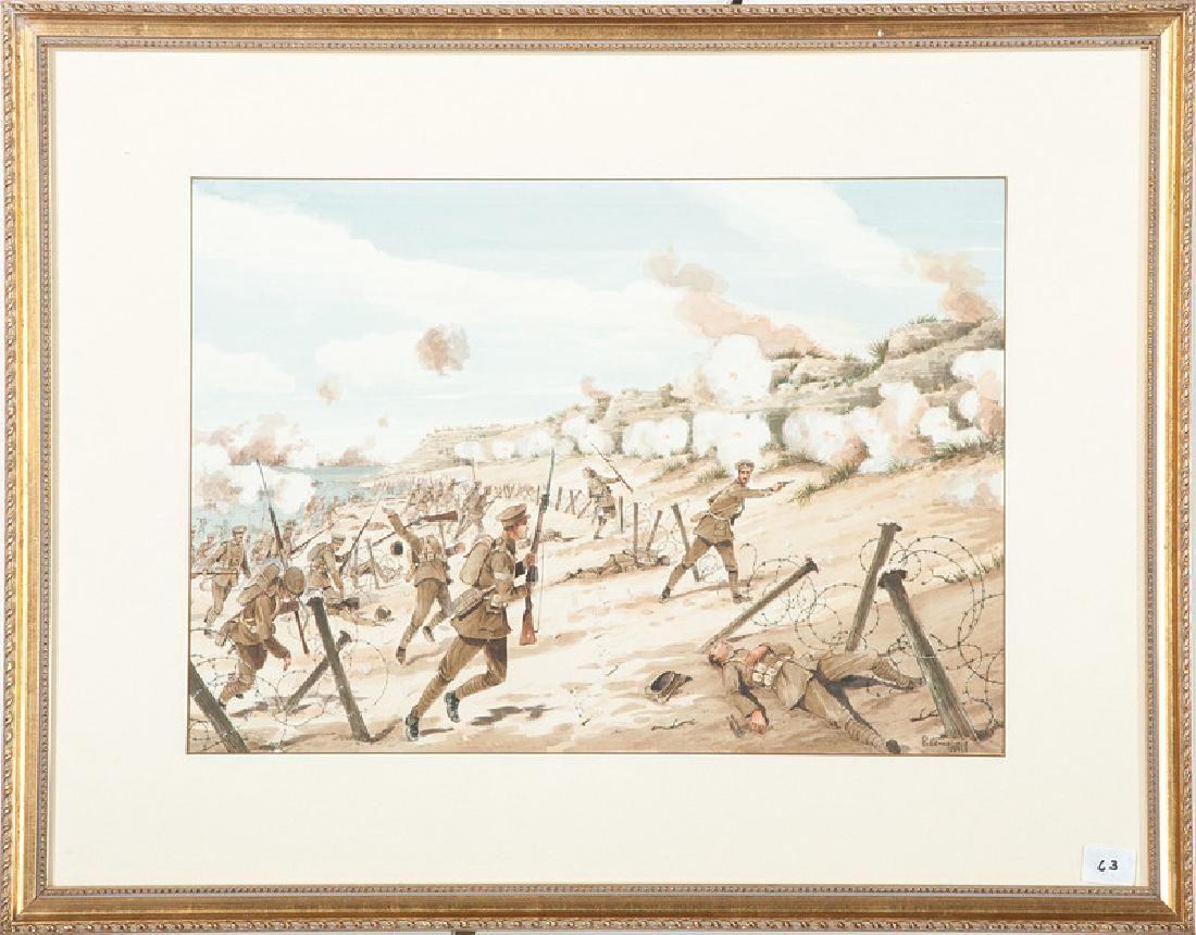 P. Lemplay, World War I Watercolor