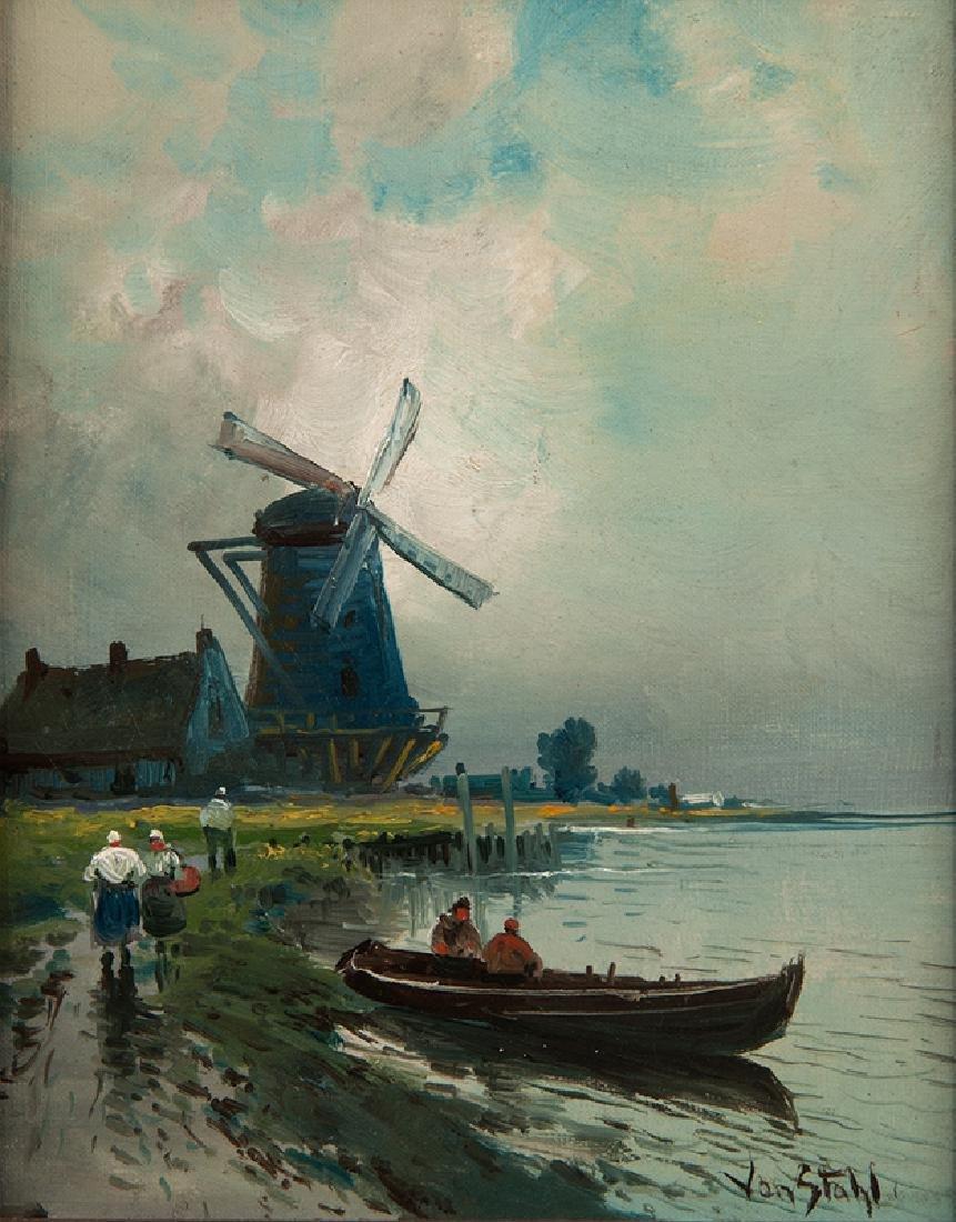 Dutch School Oil on Canvas, signed von Stahl