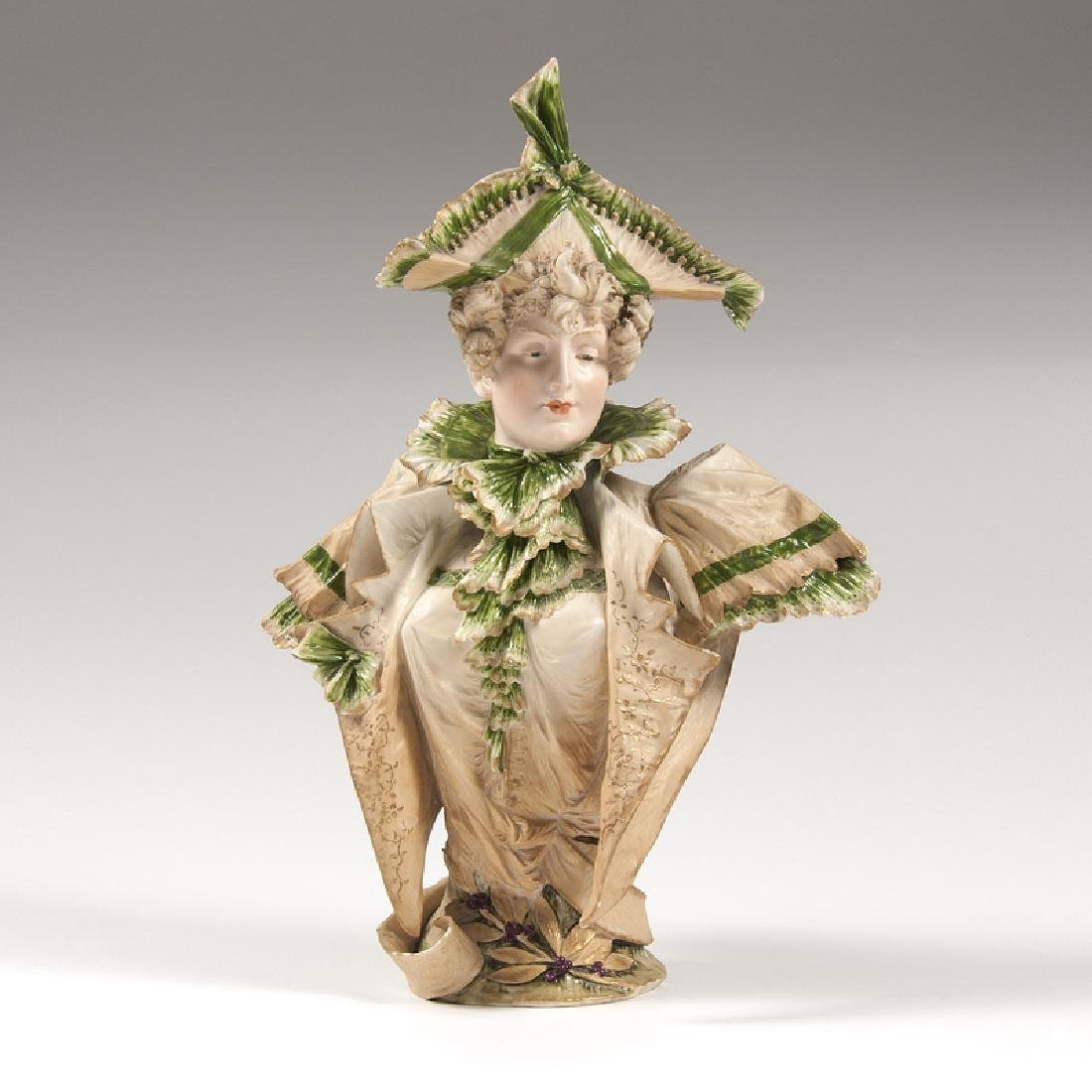 Ernst Wahliss (Austrian, 1837-1900) Porcelain Bust
