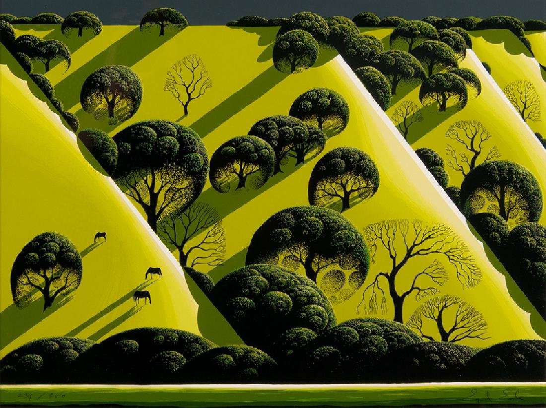Eyvind Earle (American, 1916-2000) Serigraph