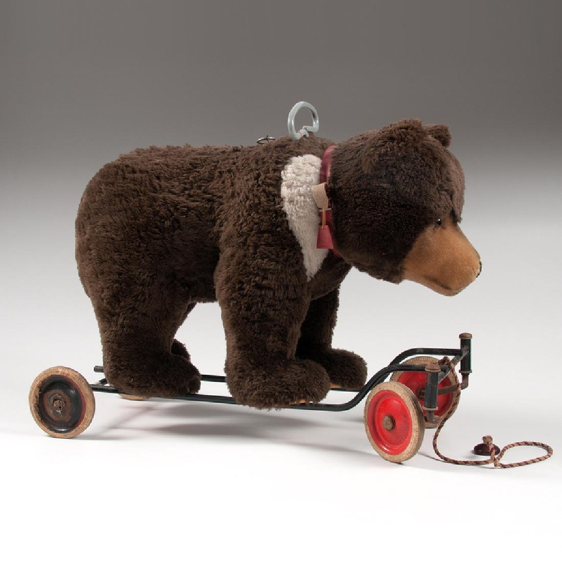Steiff Teddy Bear on Wheels