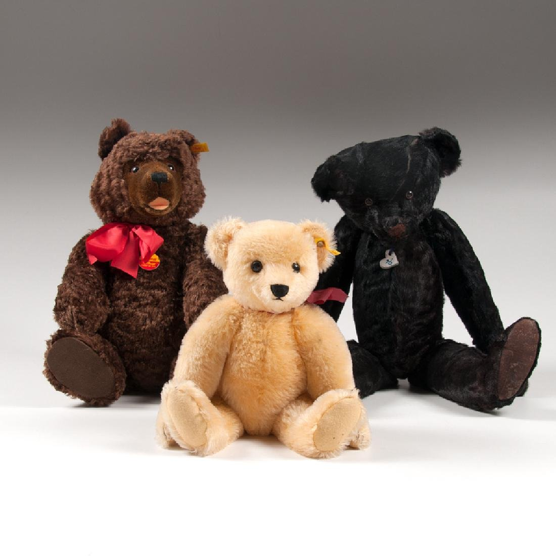 Steiff Reproduction Teddy Bears, Plus, Lot of Three