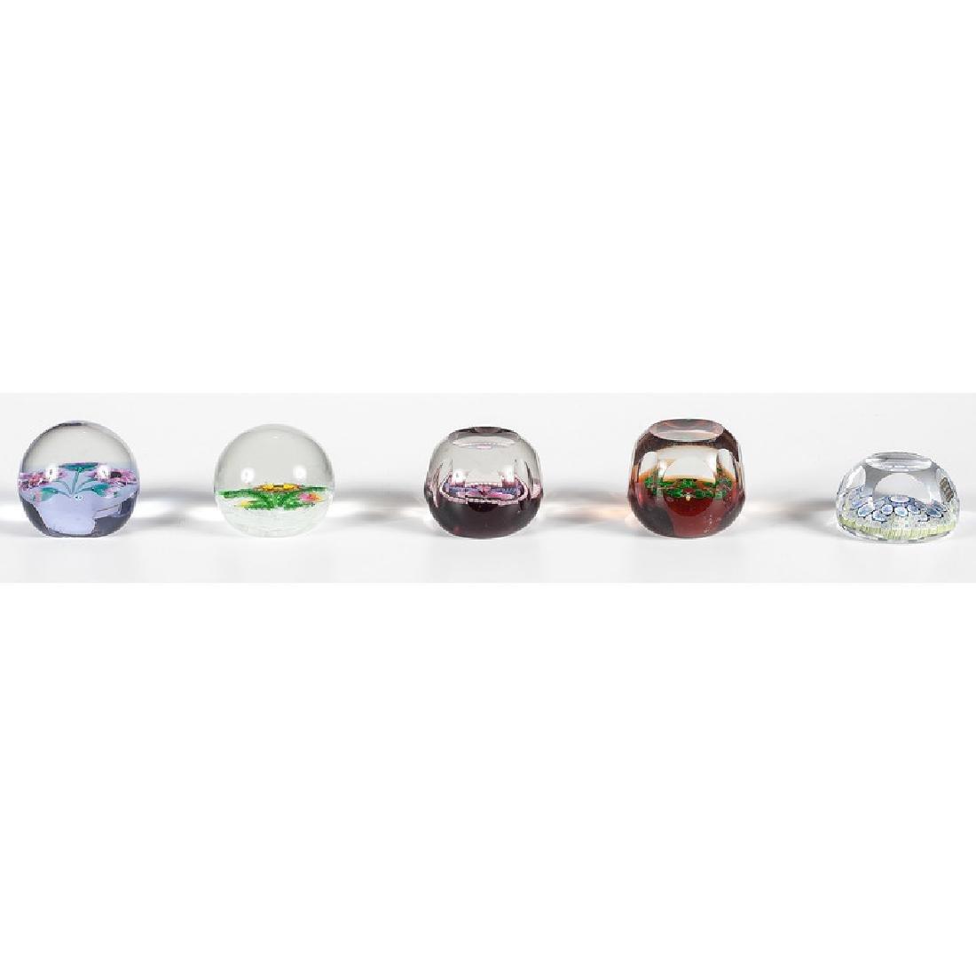 Caithness Seasonal Glass Paperweights