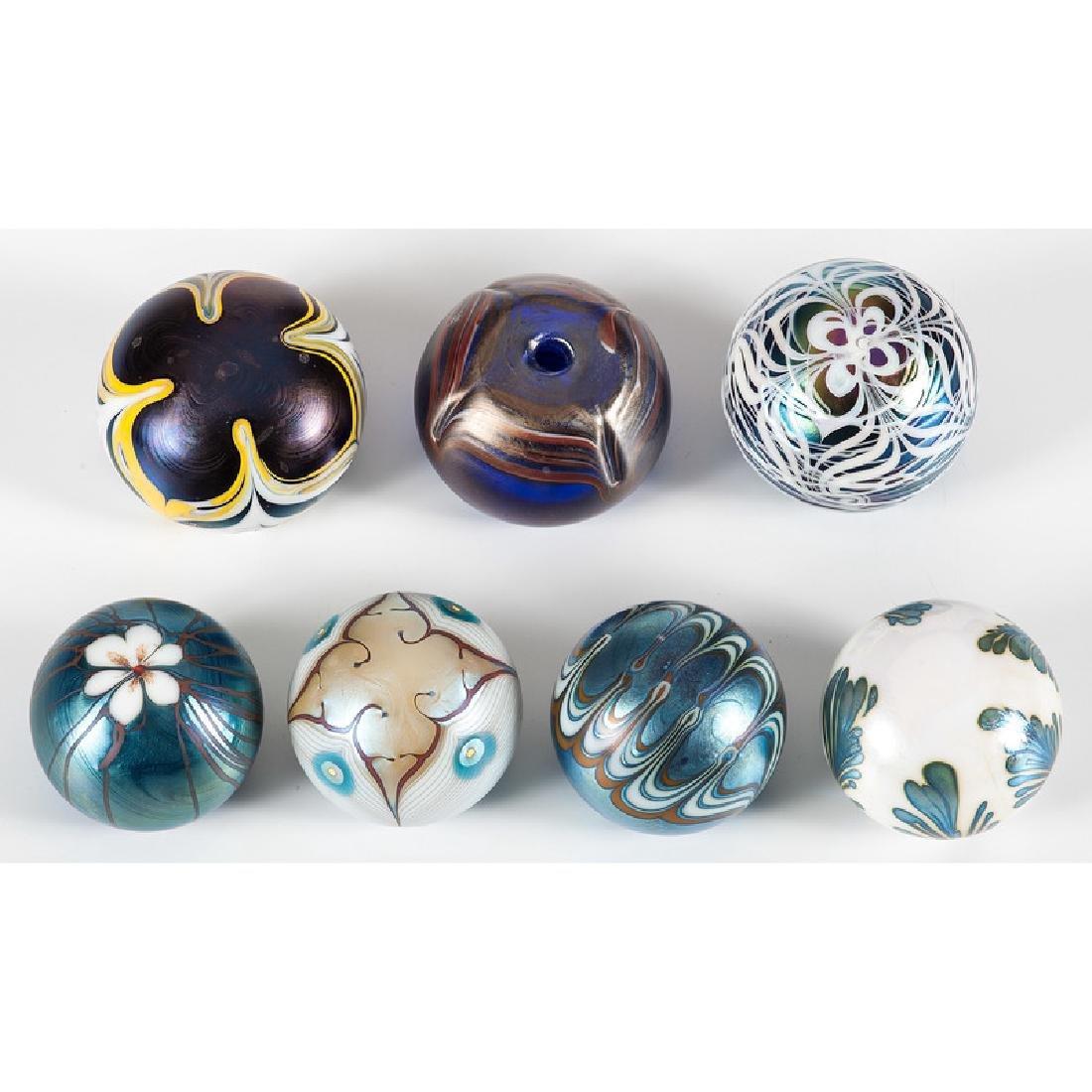 Iridescent Art Glass Paperweights