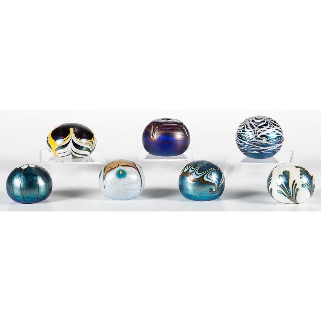 Iridescent Art Glass Paperweights - 2