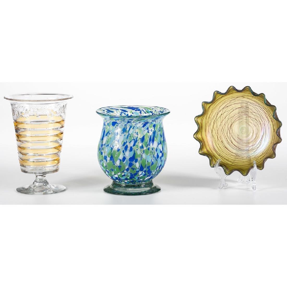 Art Glass Vase and Bowl, Plus