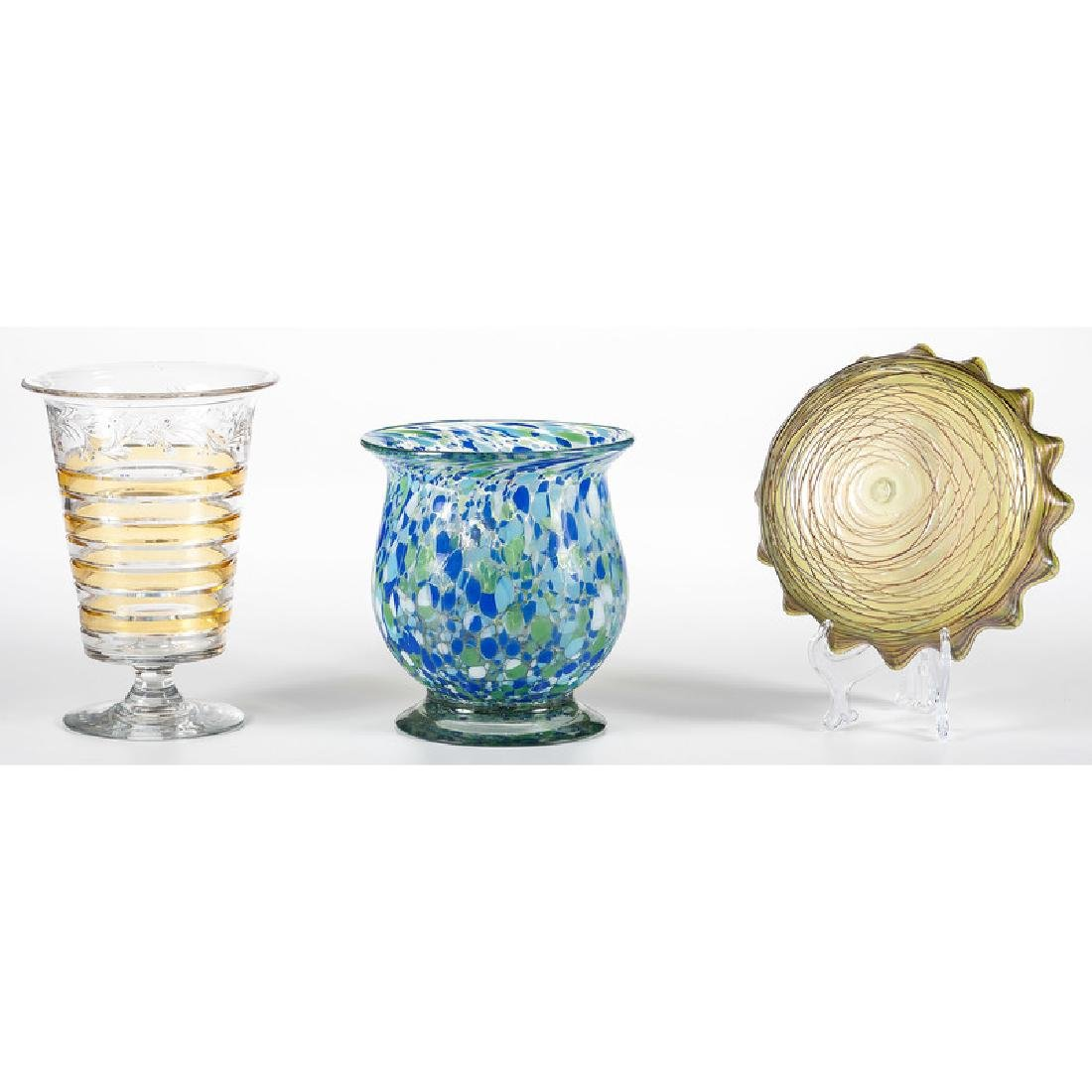 Art Glass Vase and Bowl, Plus - 2