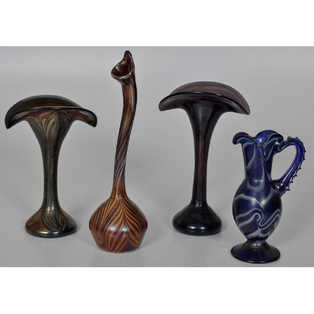Art Glass Vases and Pitcher
