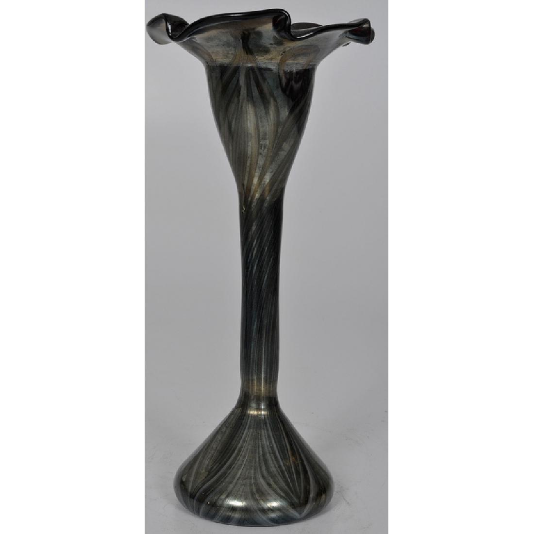 Art Glass Floriform Vases - 4