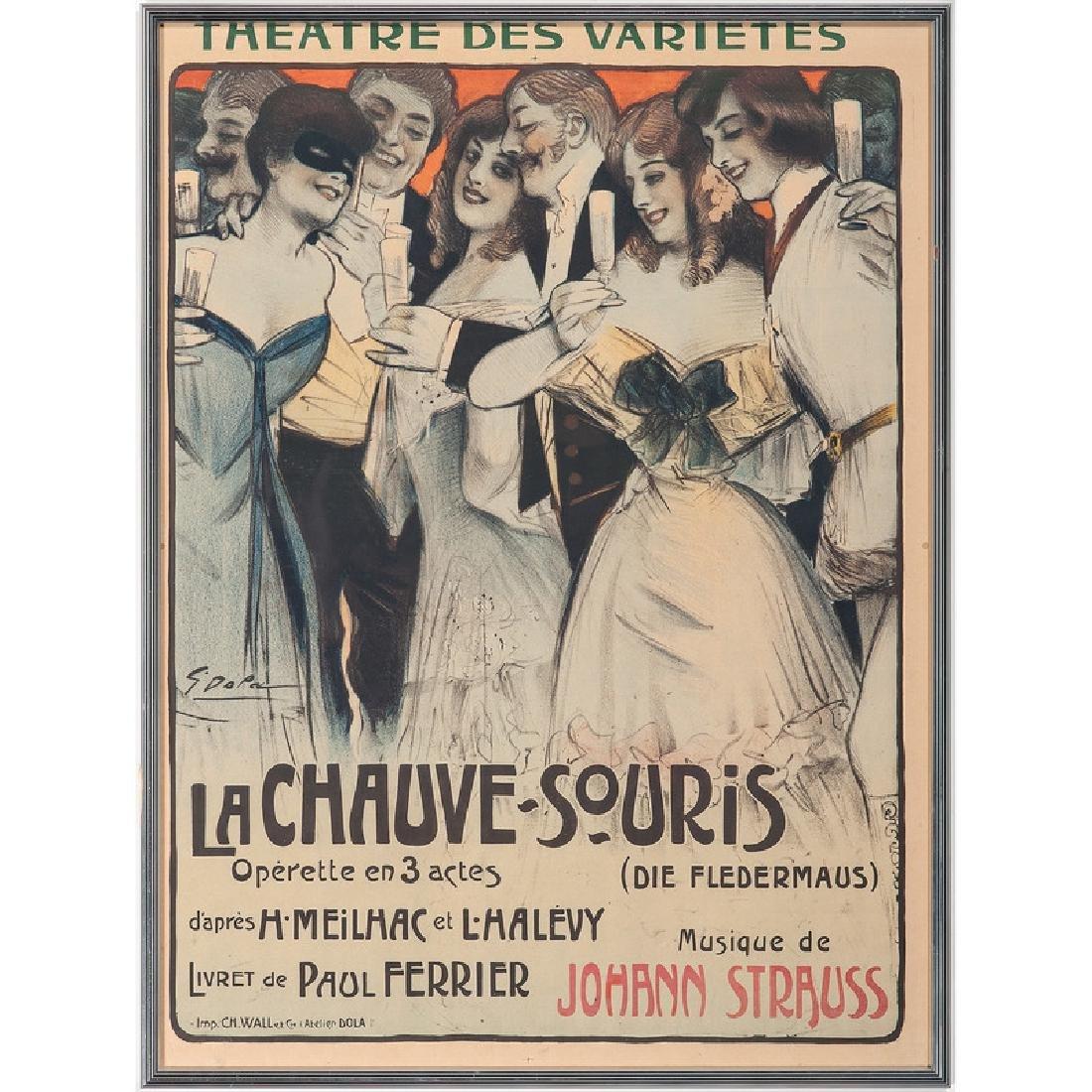 La Chauve-Sourise, Lithograph Poster by Georges Dola