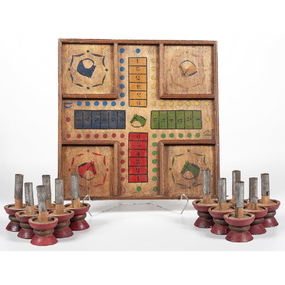 Horse Race Board Game and Painted Carnival Pegs