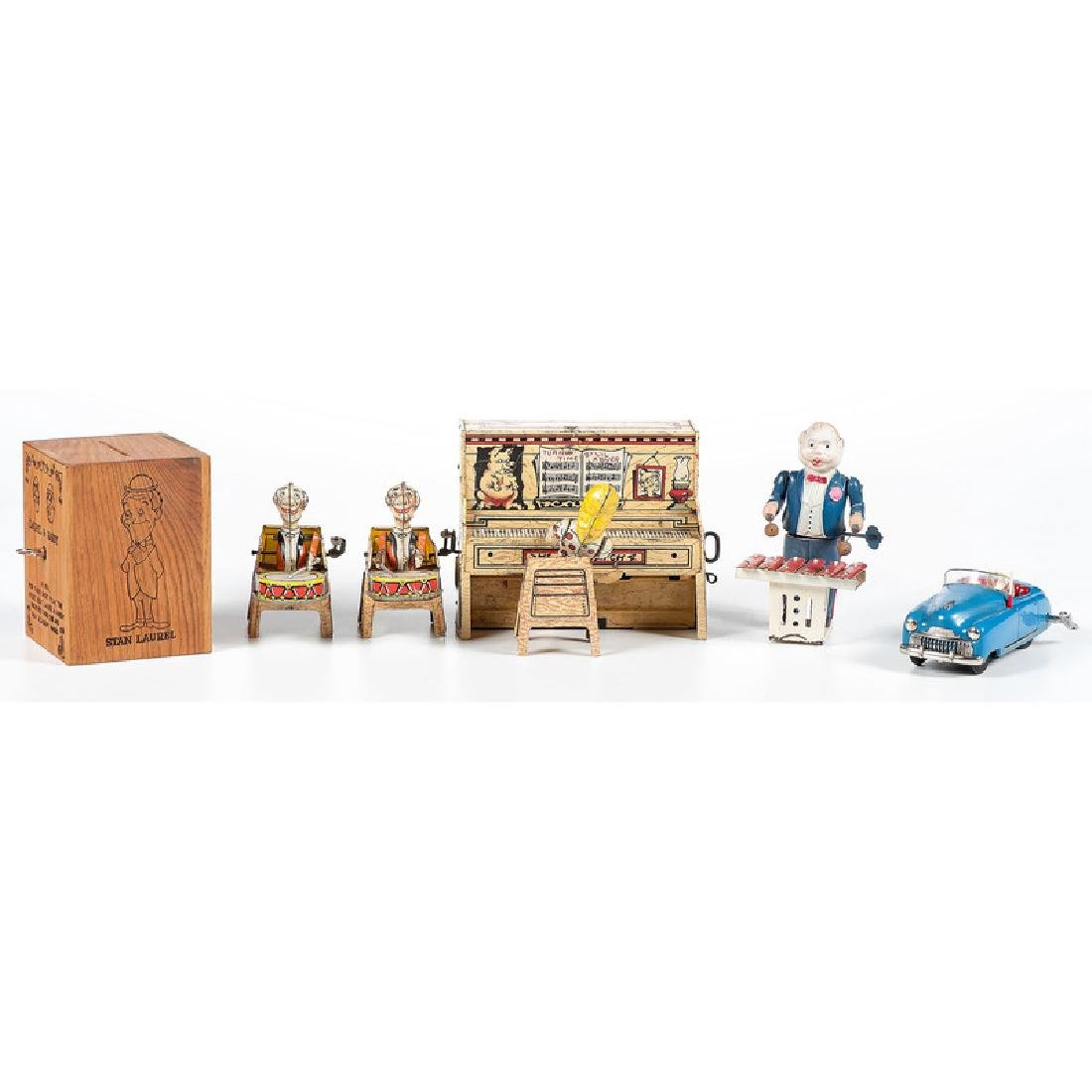 Group of Musical Toys, Including L'il Abner Band and