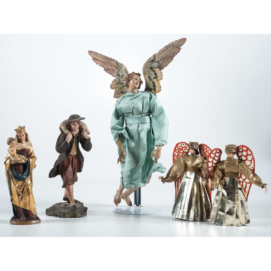 Antique Christmas Ornaments and Nativity Figures