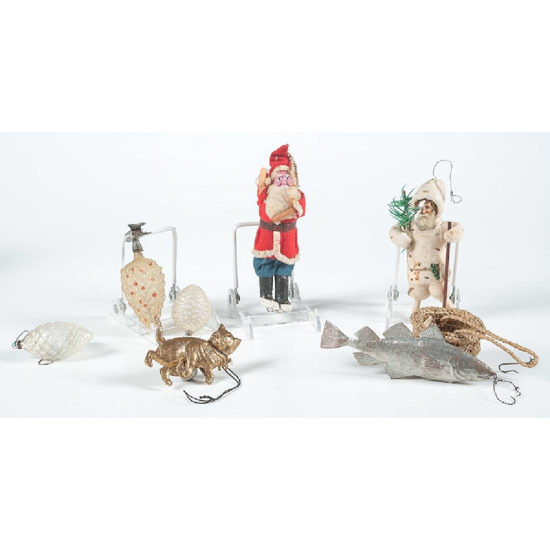 Antique Christmas Ornaments and Nativity Figures - 3