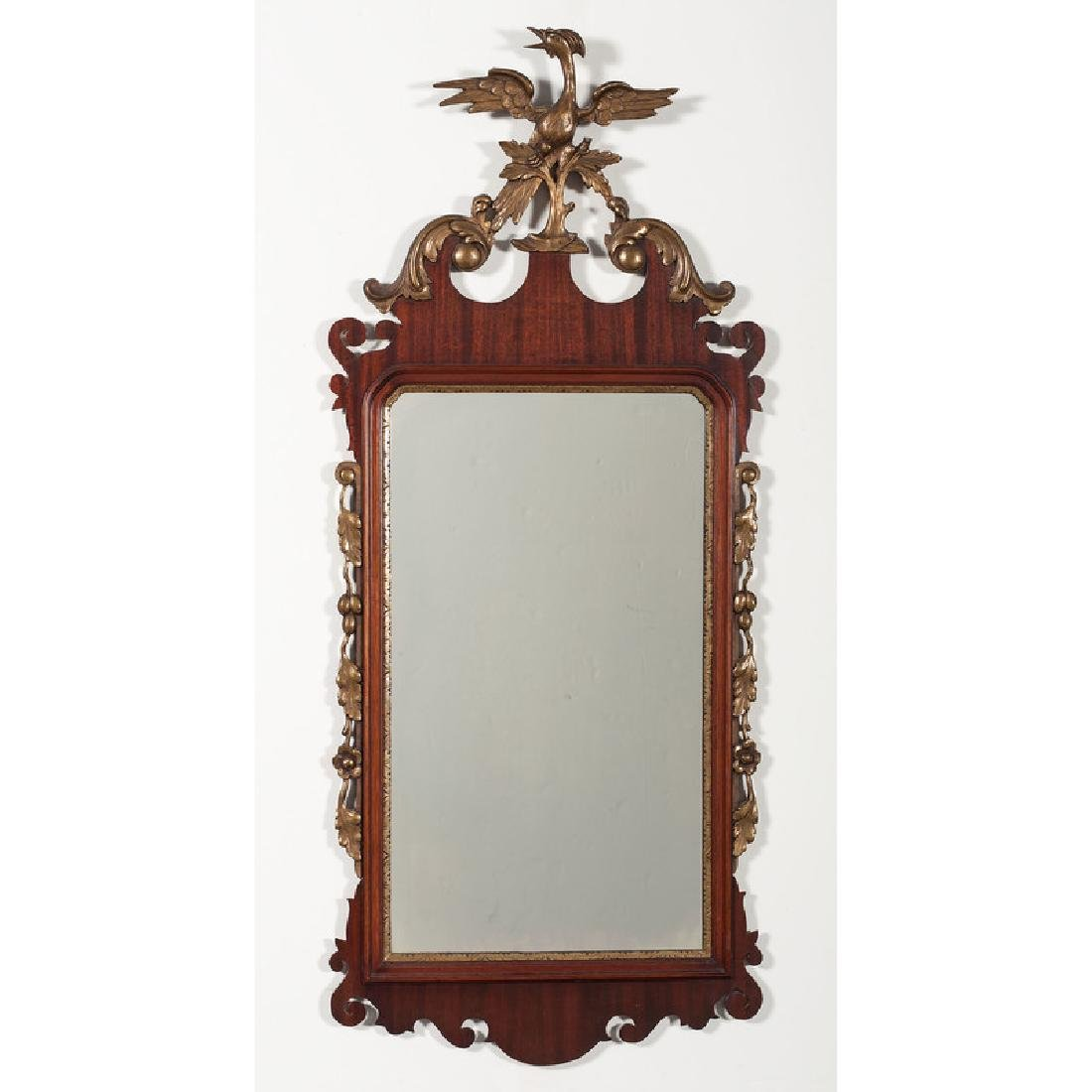 Chippendale-style Mirror with Eagle