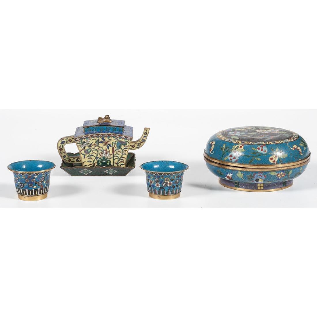 Cloisonné Teawares and Bowl