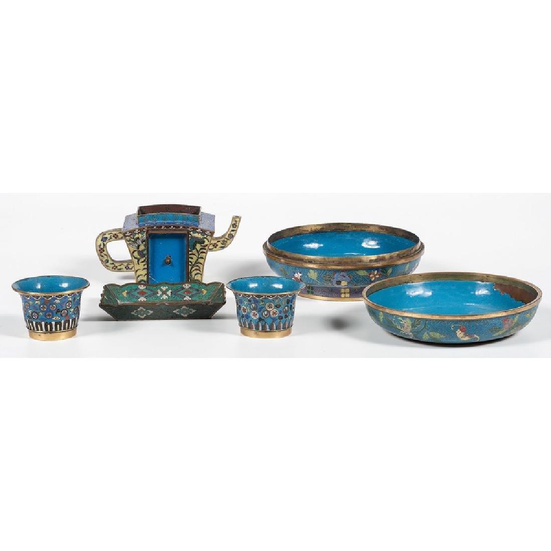 Cloisonné Teawares and Bowl - 2