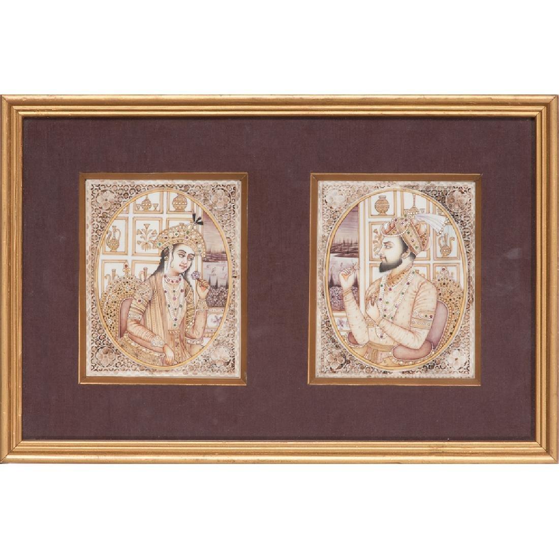Indian School Portraits of Shah Jahan and Mumtaz Mahal - 2