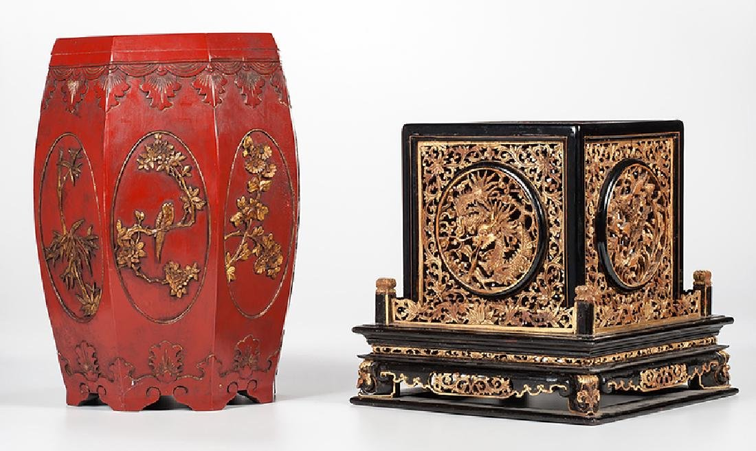 Chinese Lacquer Altar and Stool - 2