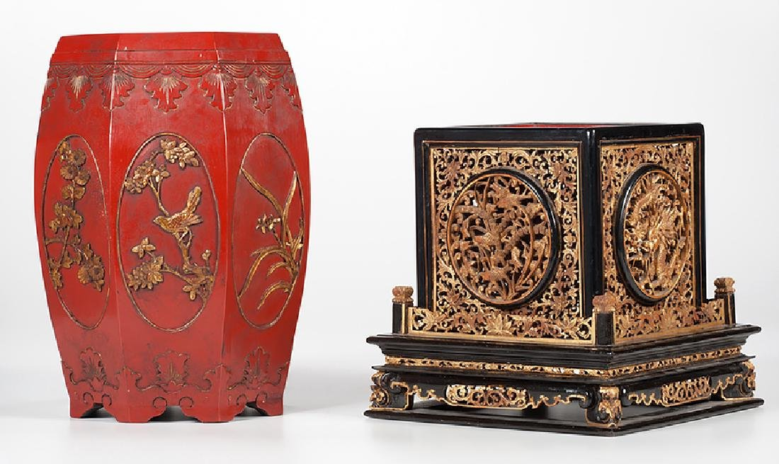 Chinese Lacquer Altar and Stool - 3