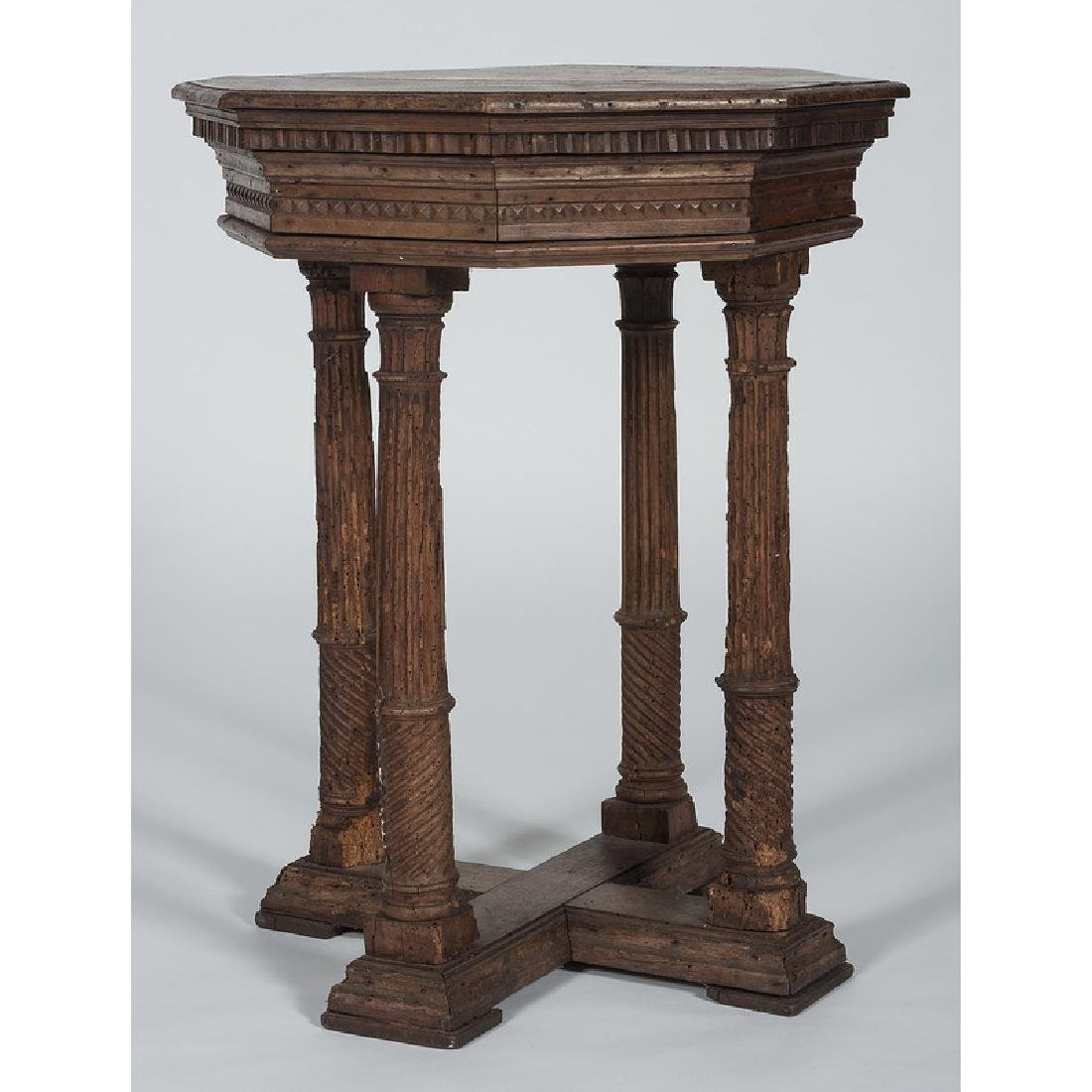 Italian Renaissance-style Octagonal Side Table - 2