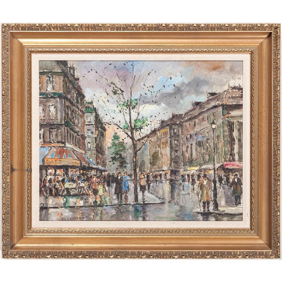 Paris Scene, Signed M. Vernier