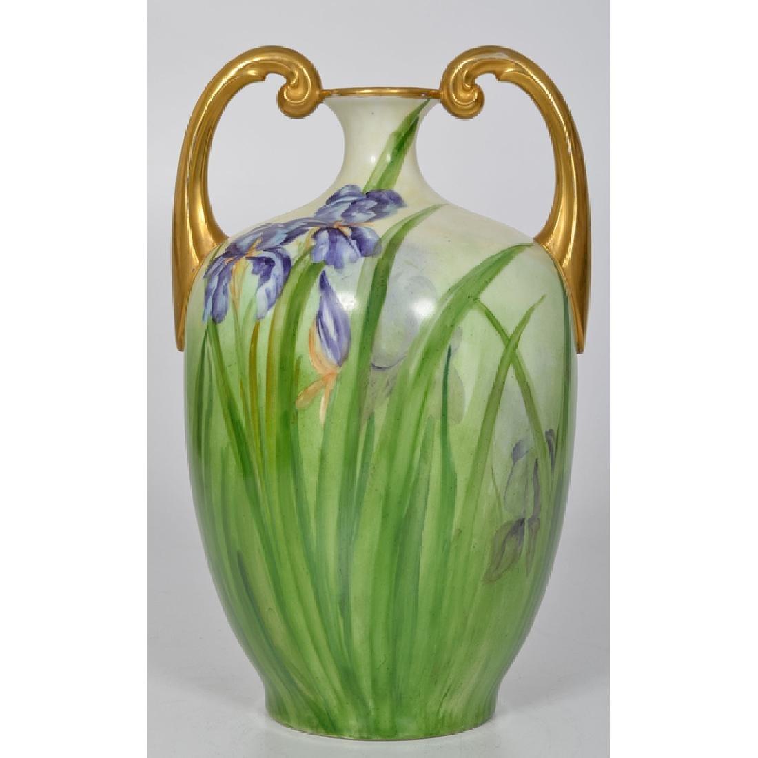 Limoges Iris Vase - 2