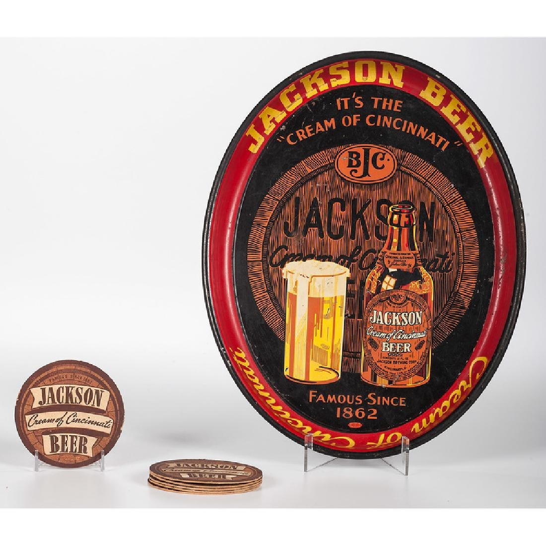 Jackson Brewing Co. Tray and Coasters