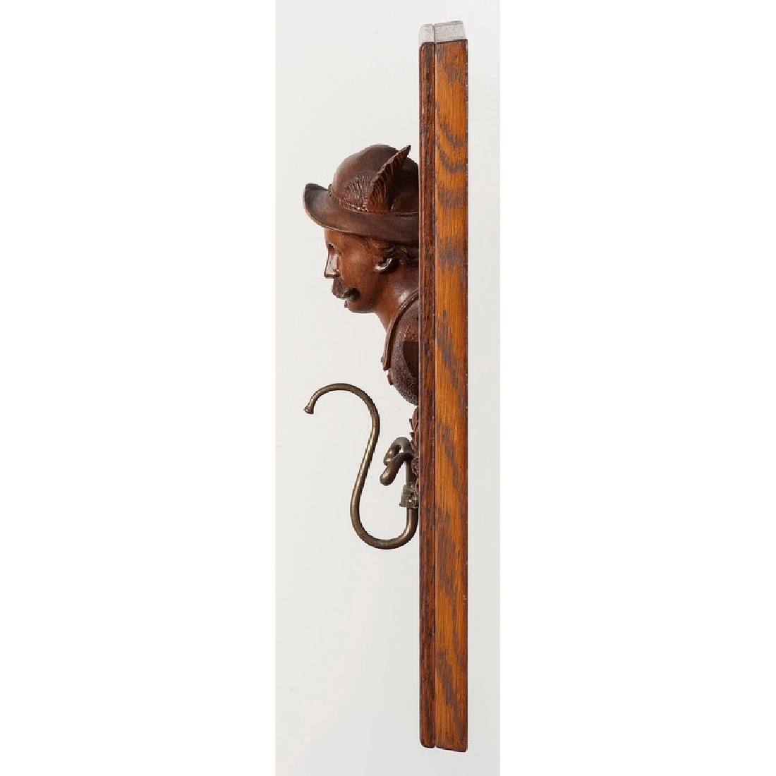 Black Forest Carved Coat Rack - 2