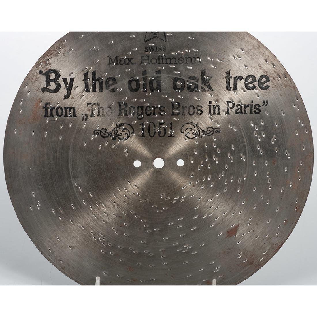 Group of 9.25-Inch Music Box Discs