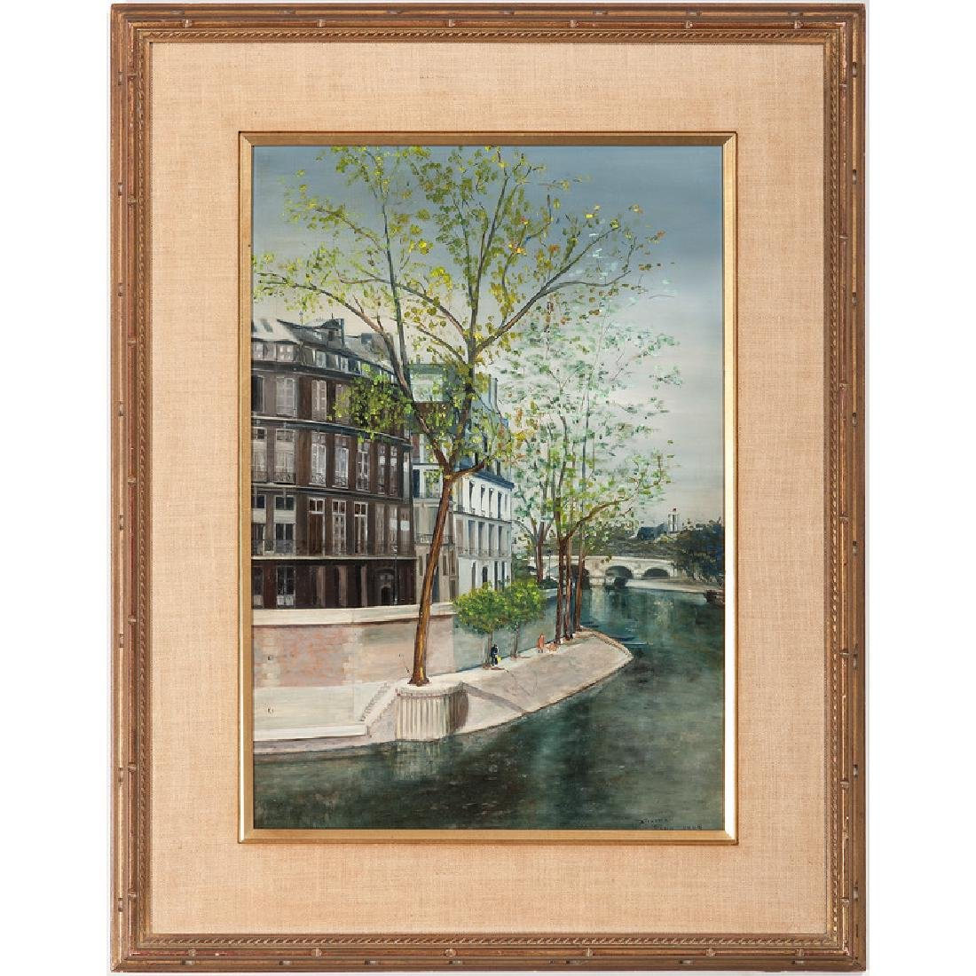 Paris Scene, Signed Stevens