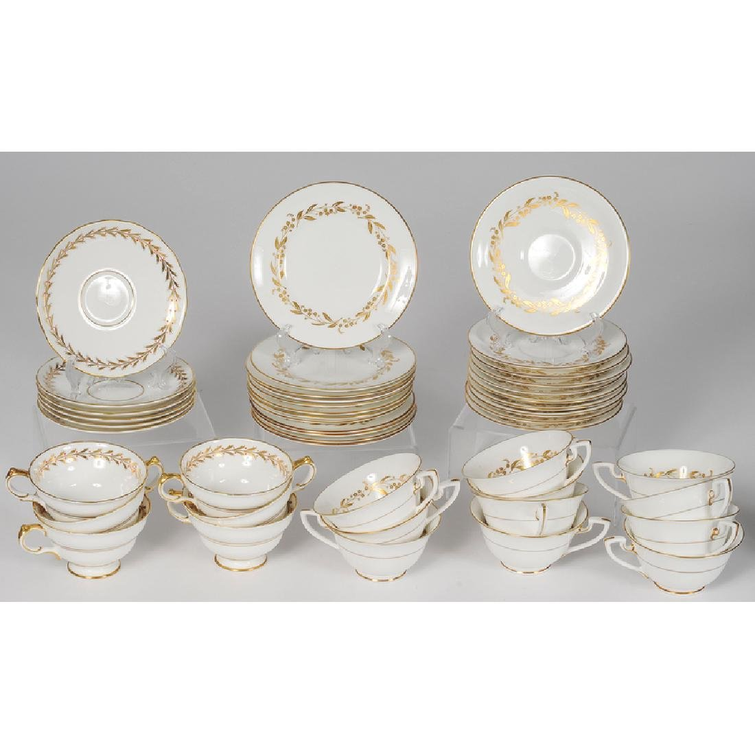 Worcester and Copeland Porcelain Tea Sets - 4