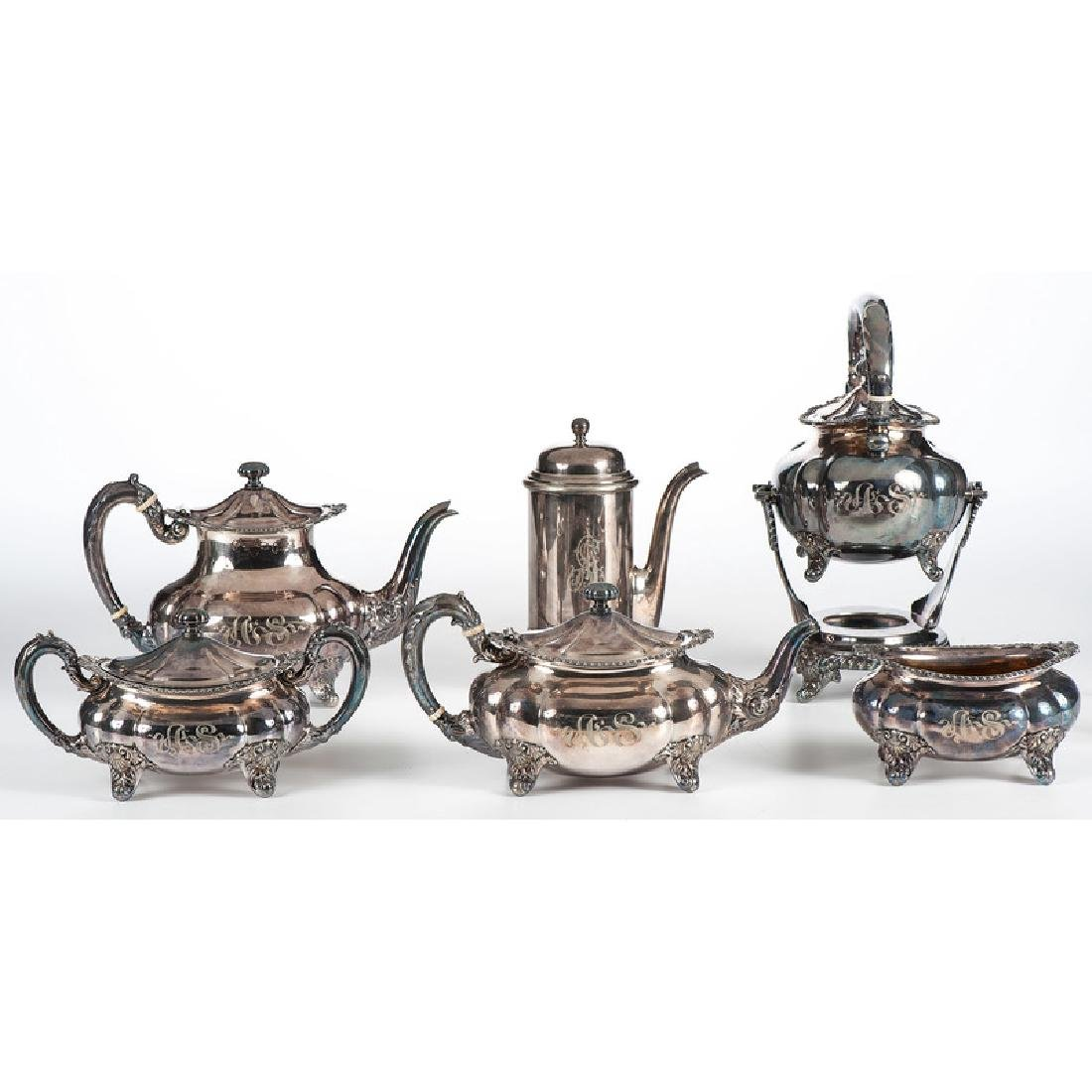 Gorham Silverplated Tea Set, Plus
