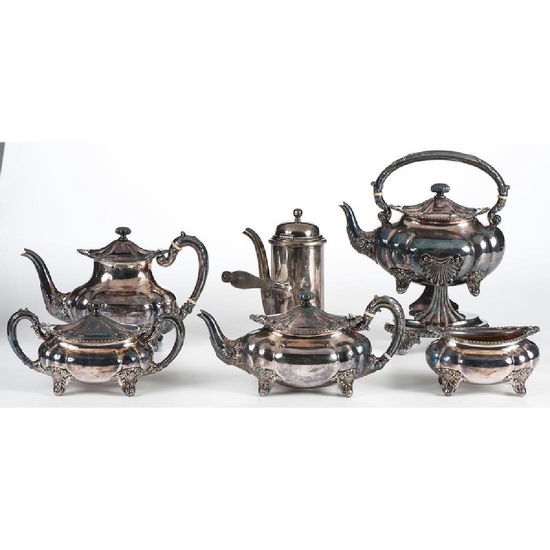 Gorham Silverplated Tea Set, Plus - 2