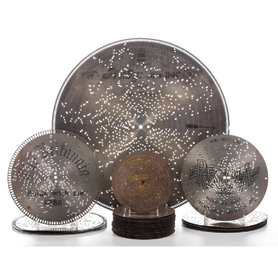 Group of Music Box Discs, Varying Size