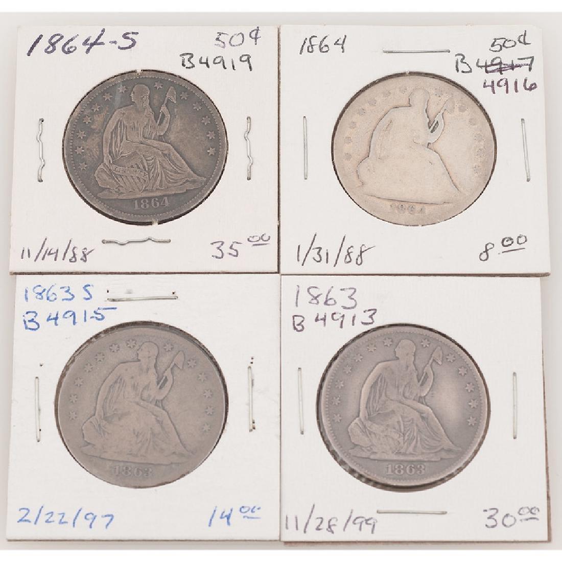United States Liberty Seated Half Dollars 1863-1864