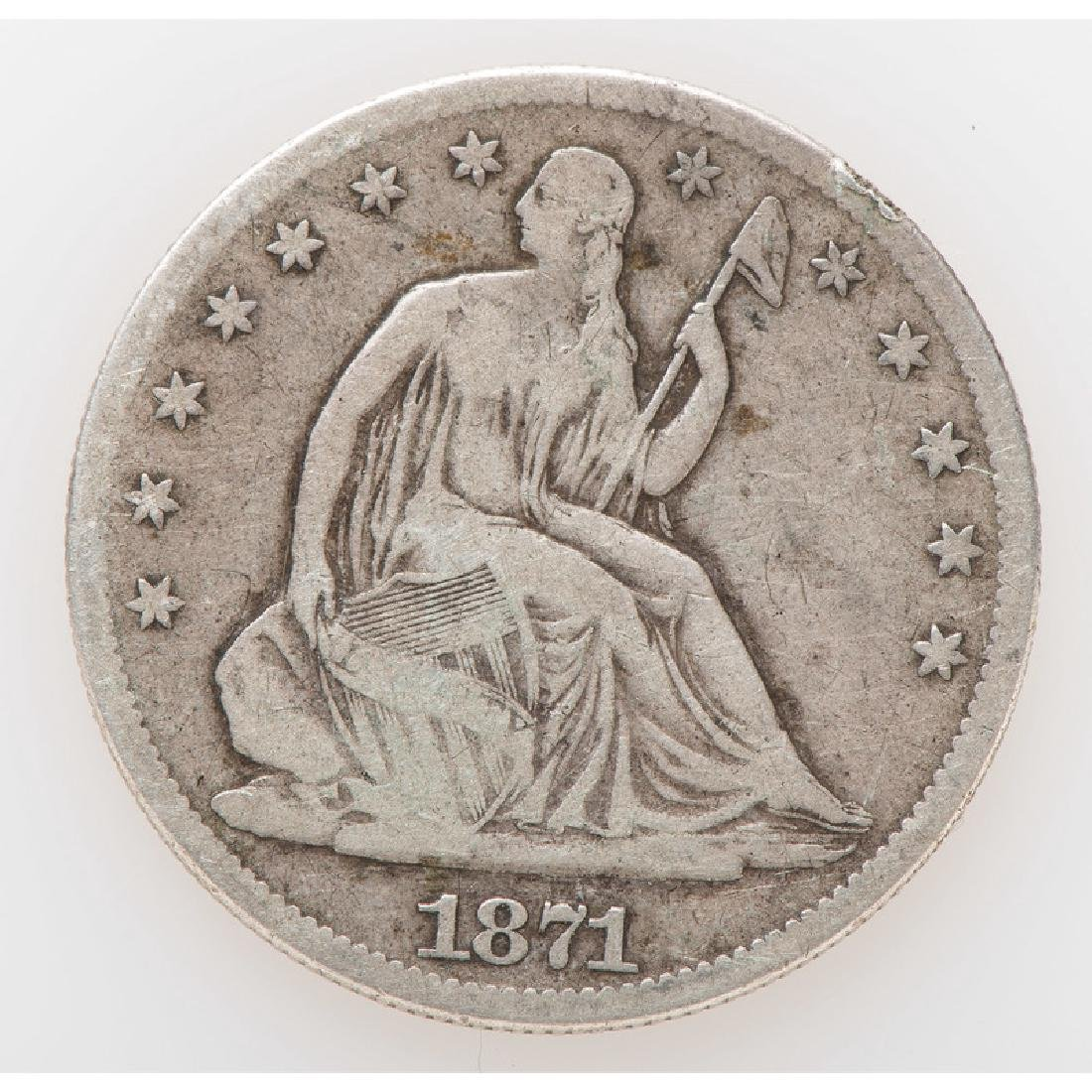 United States Liberty Seated Half Dollar 1871 Carson