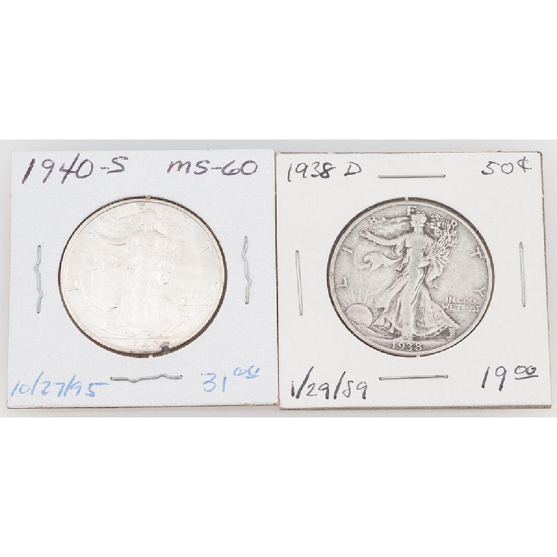 United States Liberty Walking Half Dollars 1938-1940