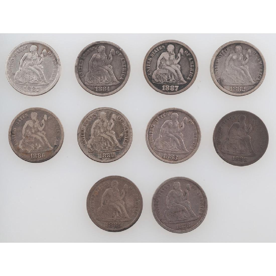 United States Liberty Seated Dimes 1878-1888