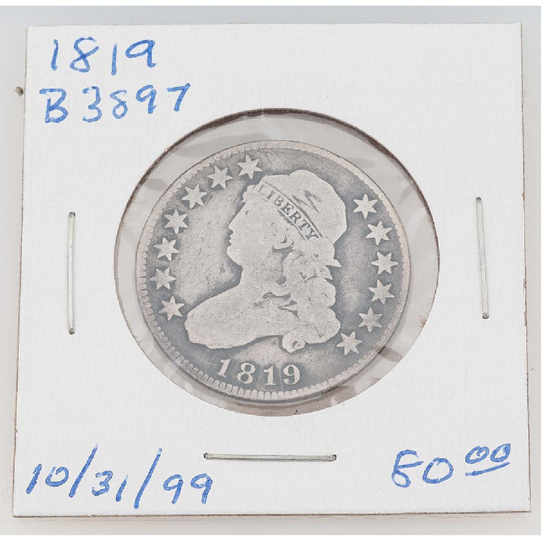 United States Capped Bust Quarter Dollar 1819