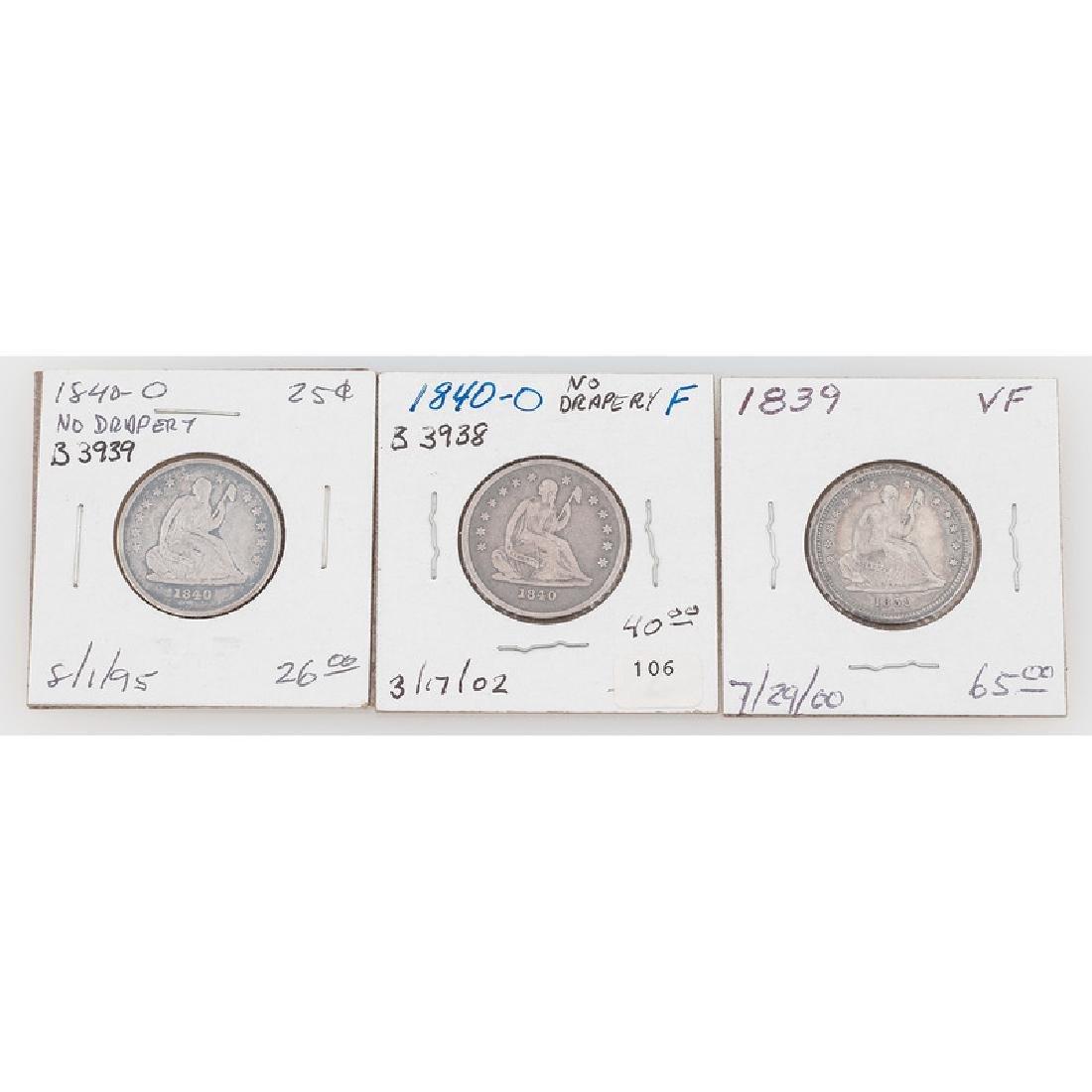 Liberty Seated Quarter Dollars 1839-1840