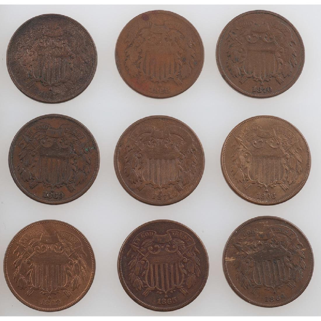 United States Two Cent Pieces 1864-1871