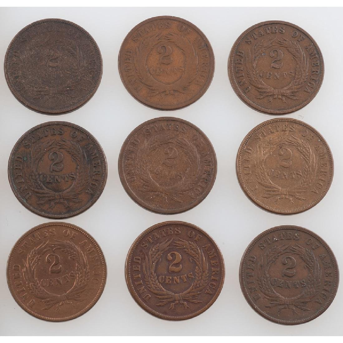 United States Two Cent Pieces 1864-1871 - 2